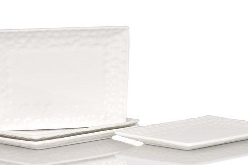 Vanilla Marble Rectangular Salad Plate