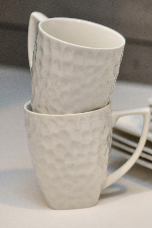 Vanilla Marble Rectangular Mug 14oz