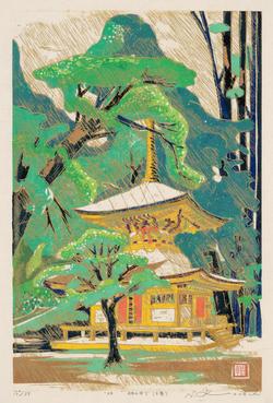 林の中で(塔) 2008年 .png