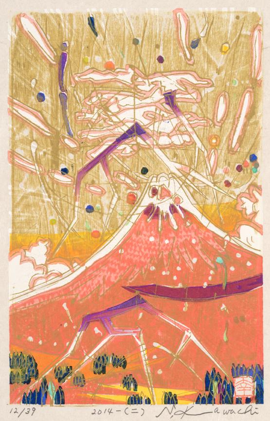 雷鳴赤富士(二) 2014年