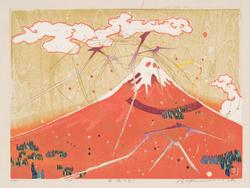 雷鳴赤富士 2013年