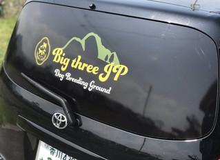 ビッグスリーJP様|営業車リアガラスのステッカー制作