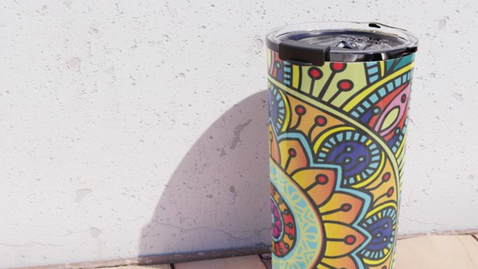 Be Your Own Sunshine Mandala Travelers Mug