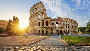 view-of-colosseum-in-rome-and-morning-su