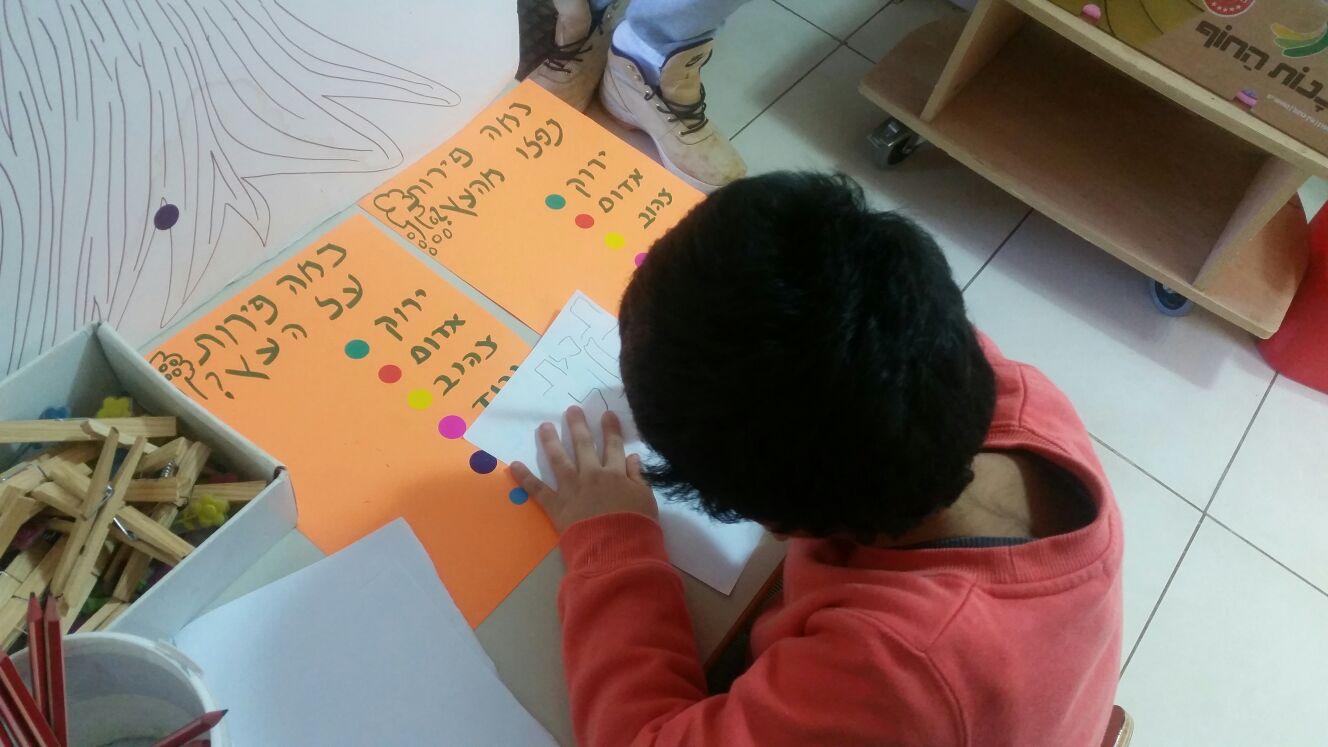 מתנסים בכתיבת מספרים/תרגילים עם עלים