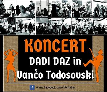 KONCERT Dadi DAZ & Vanco TODOSOVSKI | GALERIJA 1. jesenke zabave
