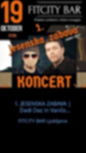 1. JESENSKA ZABAVA | Dadi Daz in Vančo Todosovski. Živa glasba in veselo vzdušje! | 19.10.2018