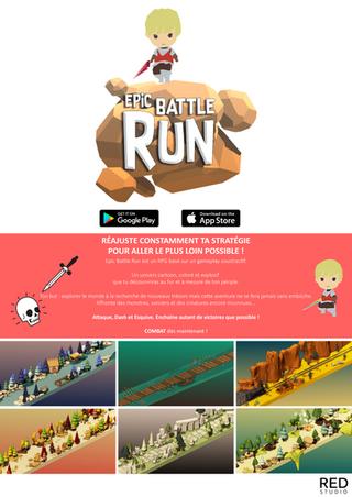 Print A3 Epic Battle Run