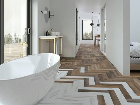 Unique Flooring Transitions: Marrying Materials in Playful Ways