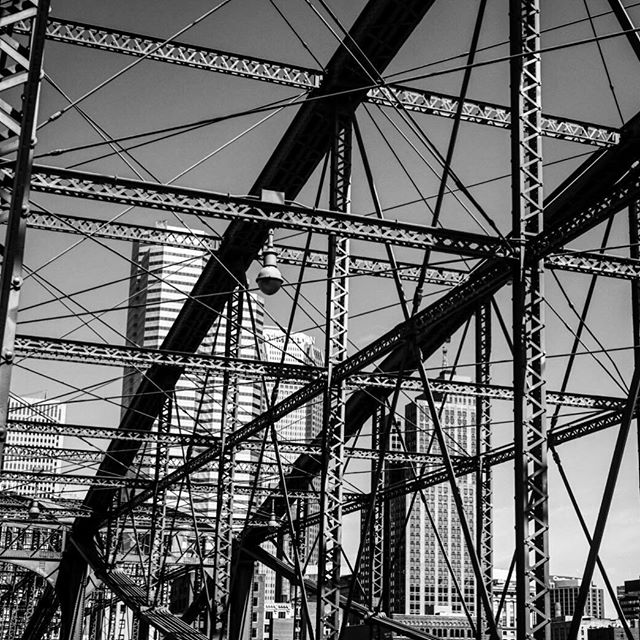 The #wonder of #bridges _ #travel #traveling #photography #blackandwhite #pittsburg #usa