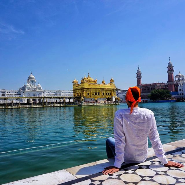 welcome to #amritsar in #punjabi #india _  this is the #golden #temple of the sikh's it's has been a massive dream of mine to visit here for