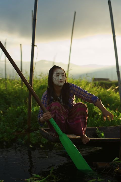local woman fishing isle lake