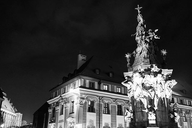 I never miss the #chance to take a #photo of a #statue _ part of my #nighttime #series _ _ #wroclaw #Poland -_-_ #travel #traveling #travelg