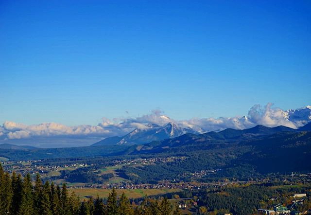 #beautiful #view from the #mountains of #zakopane #poland _