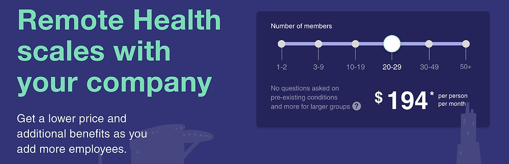 price for remote health insurance safety wing