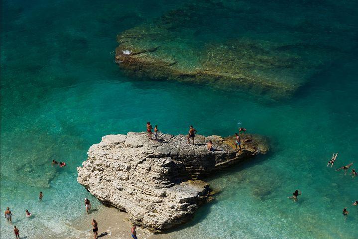beach scene in souther albania