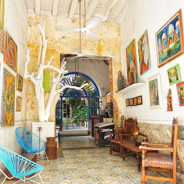 Great stay while in #cartagena _beloungehostel in the center of the #oldtown this is the #coolest place to stay while in the old walled #cit