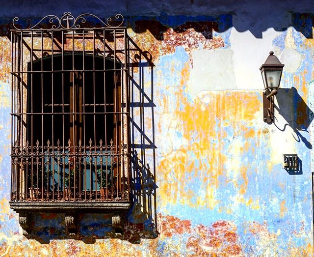 In #antiguaguatemala old #paint becomes #art over #time _ #guatemala _ #walking the #streets is #special #here_-_#travel #traveling #travelg