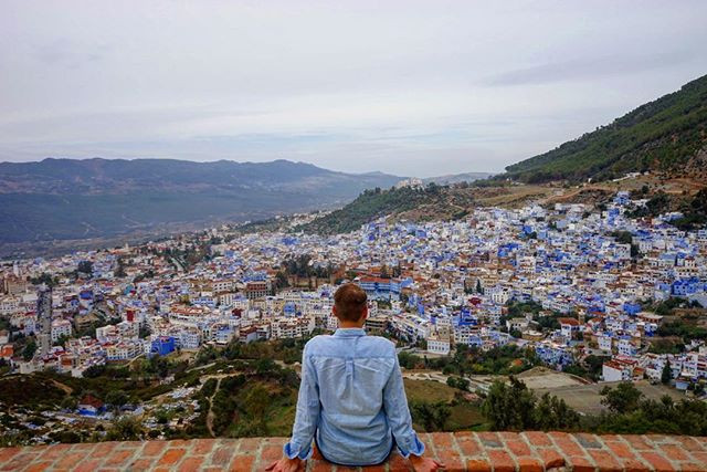 On #top of the #world _ a view of the #medina of #chefchaouen #morocco _#travel #traveling #travelgram #instatravel #wanderlust #backpacking