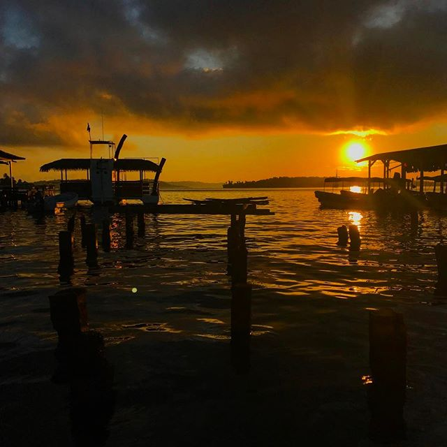 #sunrise in #bocasdeltoro #panama _ a group of #islands known to be some of the most #beautiful in the #world_-_#travel #traveling #travelgr