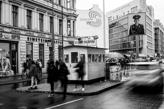 The #famous #checkpointcharlie seen in so many #films _ #travel #traveling #berlin #germany #blackandwhite