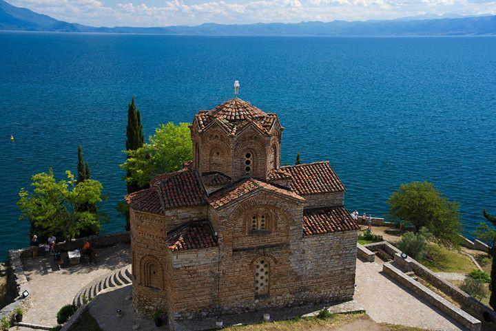 lake ohrid & church