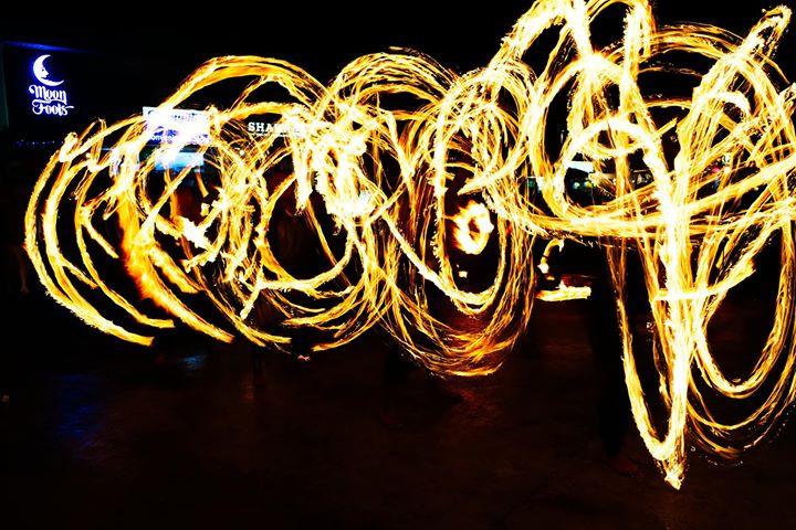 fire dancers in panglao
