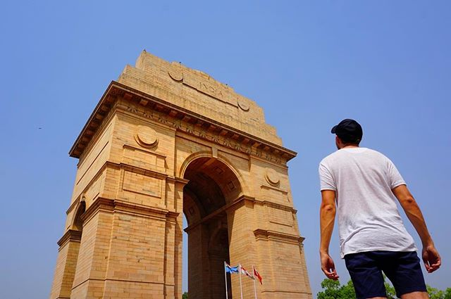 #India #gate in #delhi commemorates fallen India #soldiers during the #war -_-_#travel #traveling #travelgram #instatravel #wanderlust #back