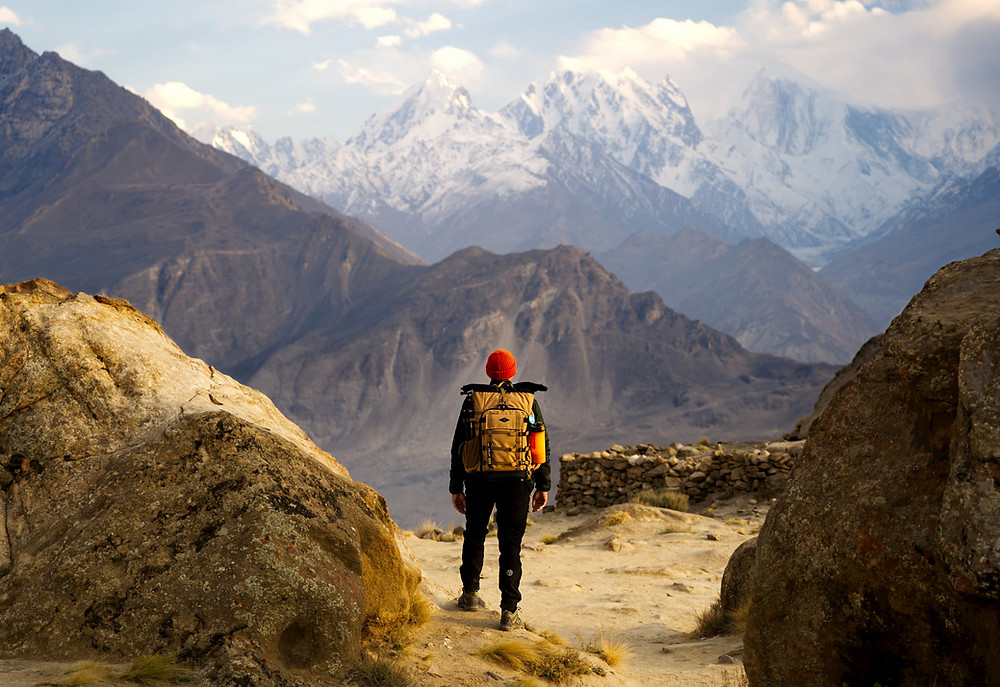 view from eagles nest hunza valley pakistan