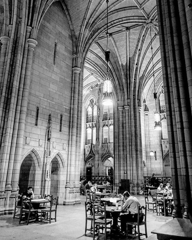 Top 10 most #beautiful #libraries in the #world _ the #cathedral of #learning _ #Pittsburgh #usa #travel #traveling #photography #blackandwh