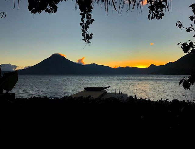 A #room with a #view _ #amazing #sunset from my #balcony at _lagunalodge #resort _ #lakeatitlan #guatemala -_-_#travel #traveling #travelgra