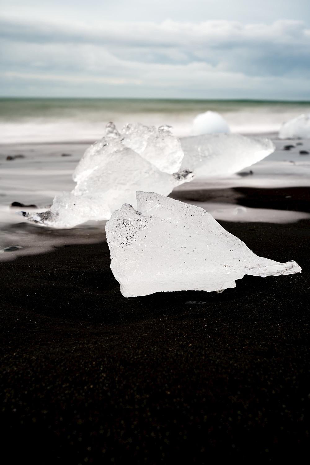 ice berg diamond beach