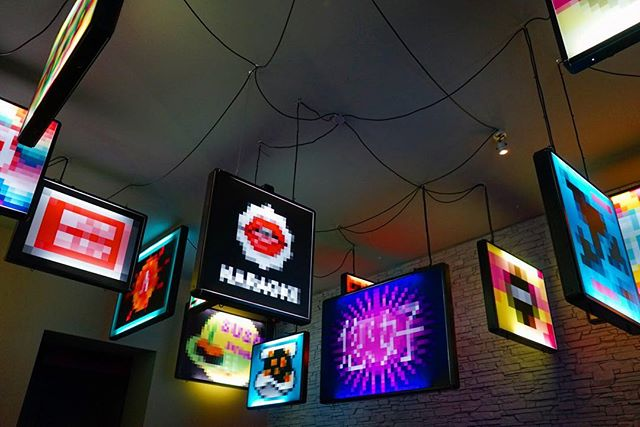 One of just #many #amazing #restaurants in #Berlin this is #bun #bao in a #local #district #tokyo #style #neon #signs #light up the room _ #