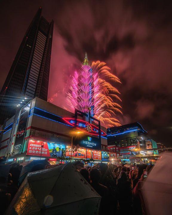 taipei 101 on new years 2019