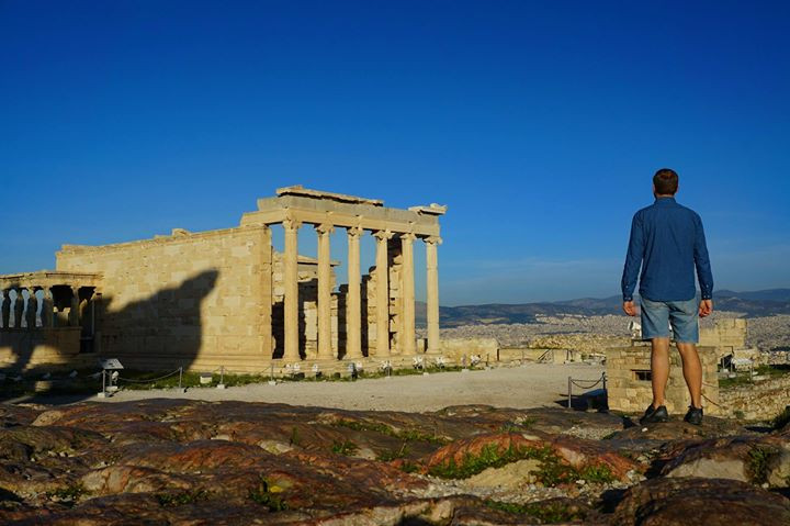 self portrait at acropolis