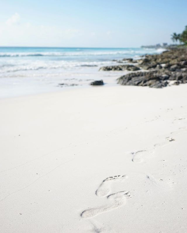#footprints in the #sand _ #tulum #mexico #beach #sea -_-_#travel #traveling #travelgram #instatravel #wanderlust #backpacking #adventure #w
