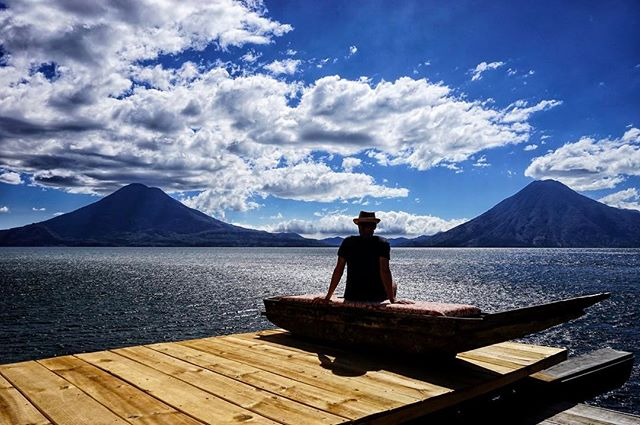 #volcano #views at #lake #atitlan _ #guatemala _These #amazing #views are #courtesy of _lagunalodge #eco #resort -_-_#travel #traveling #tra
