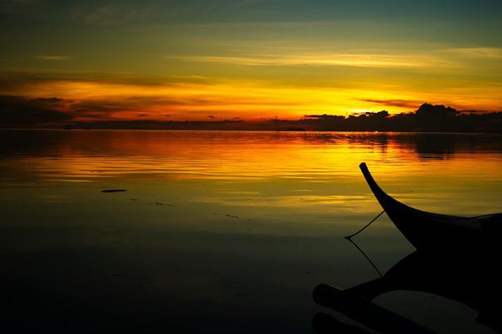vista of bagan at sunset