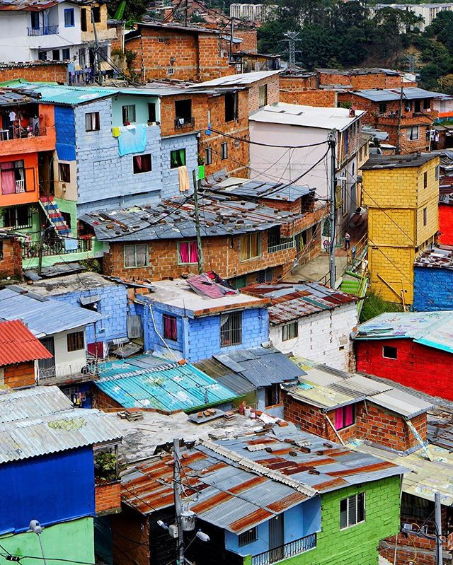 #welcome to #medellin #colombia _ today I took a #slum & #grafitti #tour courtesy of #medellincitytours this shot was taken  at a reformed s