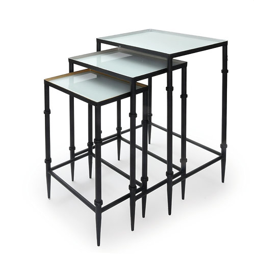 Mesa de Metal  com Vidro