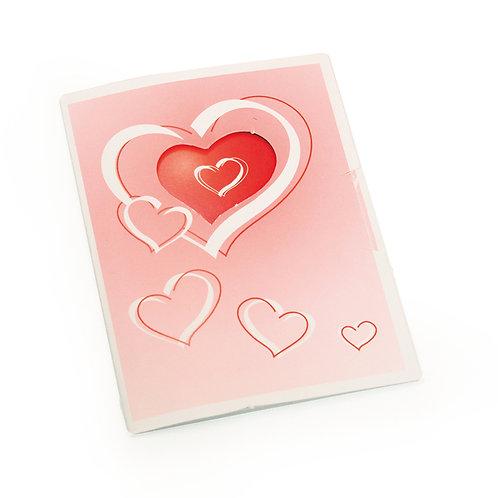 Cartão Vertical Corações