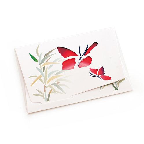 Cartão Horizontal Borboletas