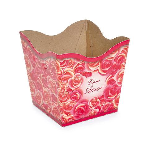 Cachepot Comemoração Rosas com Amor