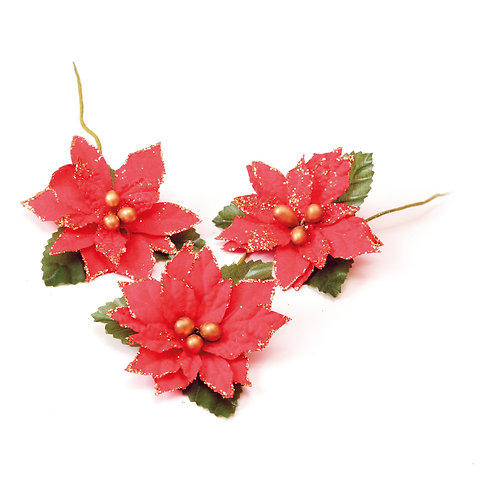 Flor Aramada Poinsétia