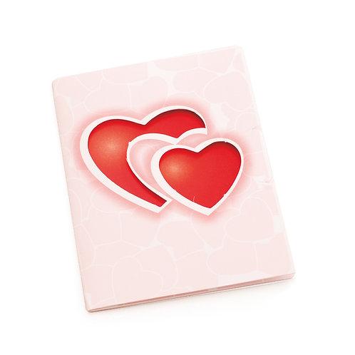 Cartão Vertical Duo Corações