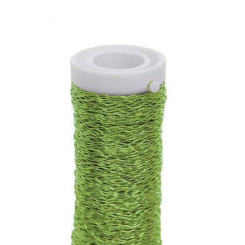 Arame Decorativo Ondulado Verde Cítrico