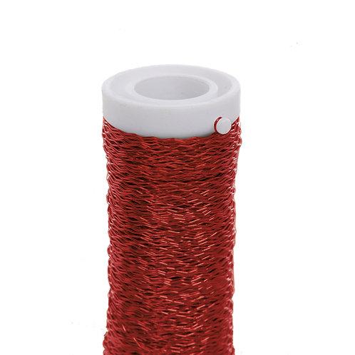 Arame Decorativo Ondulado Vermelho