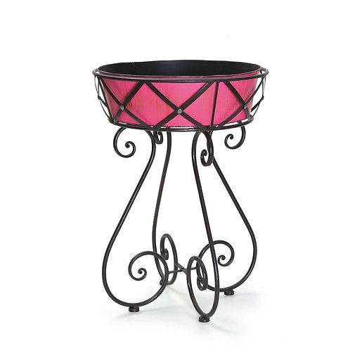 Vaso Base de Ferro Pink M