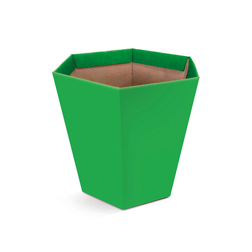 Cachepot Sextavado Verde