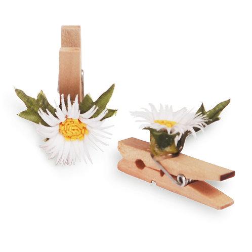 Pregador Floral Margarida Branca